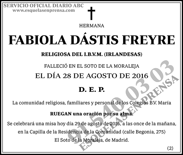Fabiola Dástis Freyre